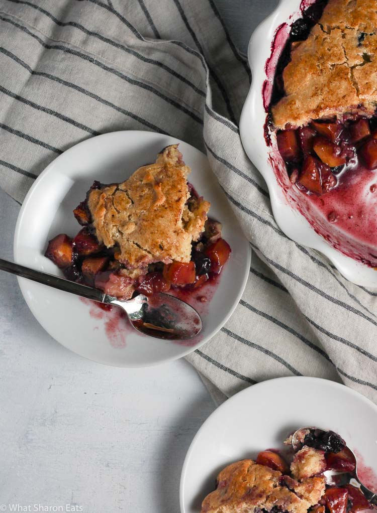 Blueberry Peach Cobbler