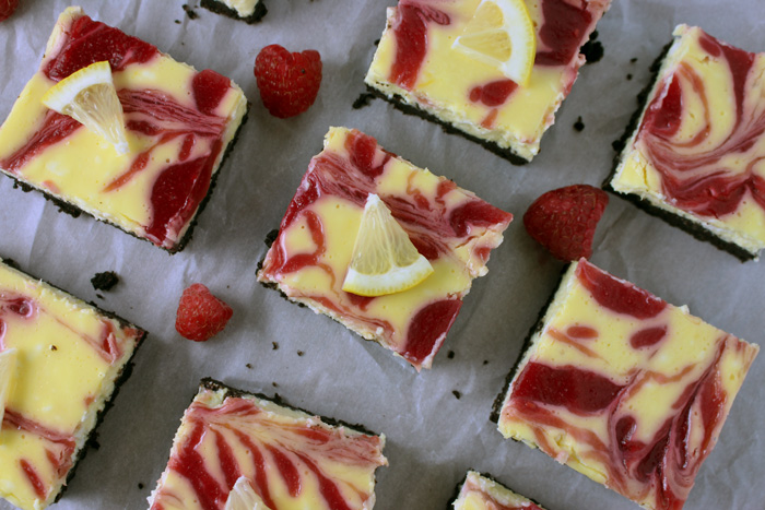Raspberry Lemon Cheesecake Squares