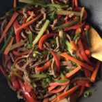 Spicy beef and vegetable stir-fry