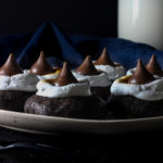 dark chocolate s'mores blossom cookies
