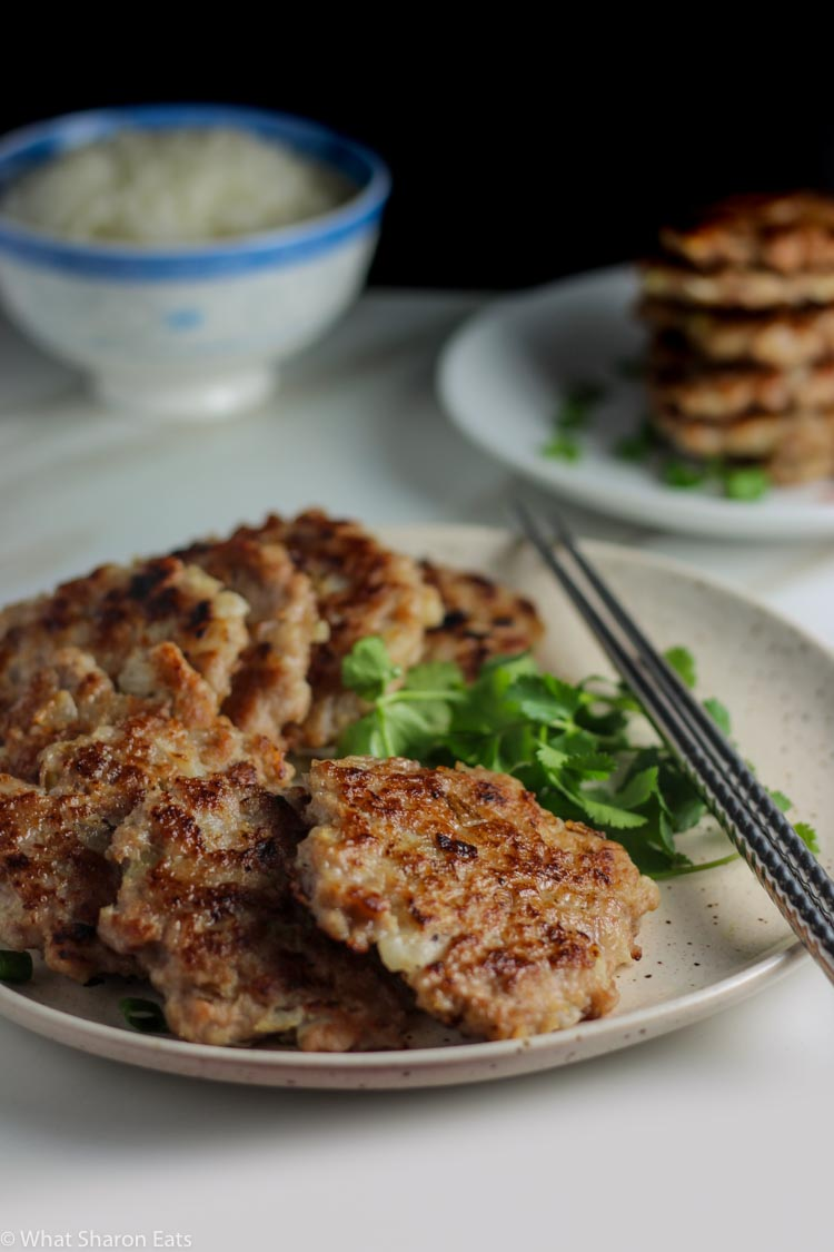 Pork fritters plated