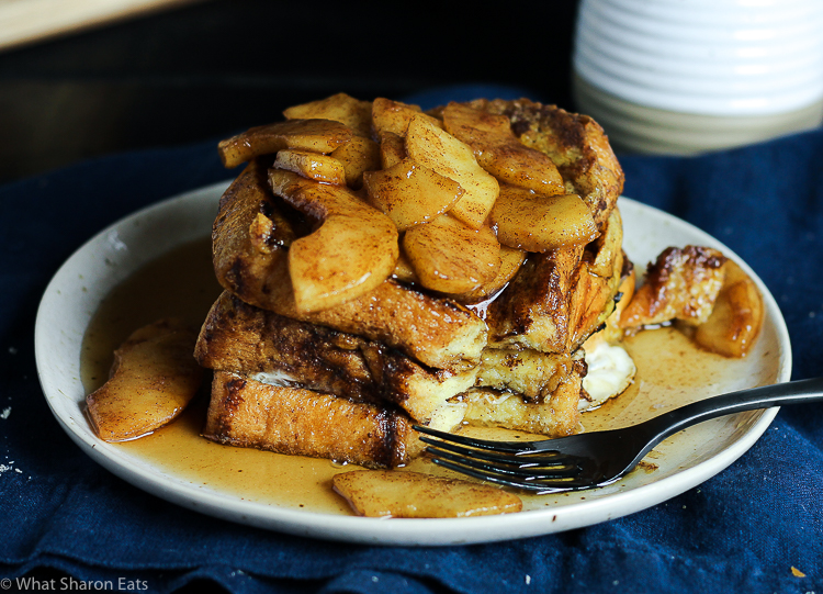 Apple Cinnamon Challah French Toast