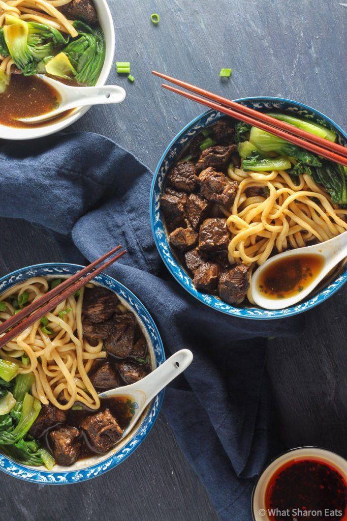 Taiwanese Braised Beef Noodle Soup final presentation