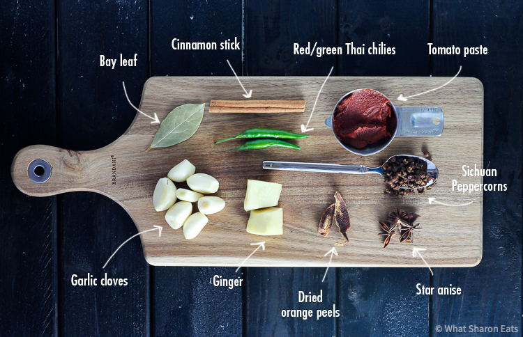 Braised Beef Noodle Soup Aromatics with descriptors