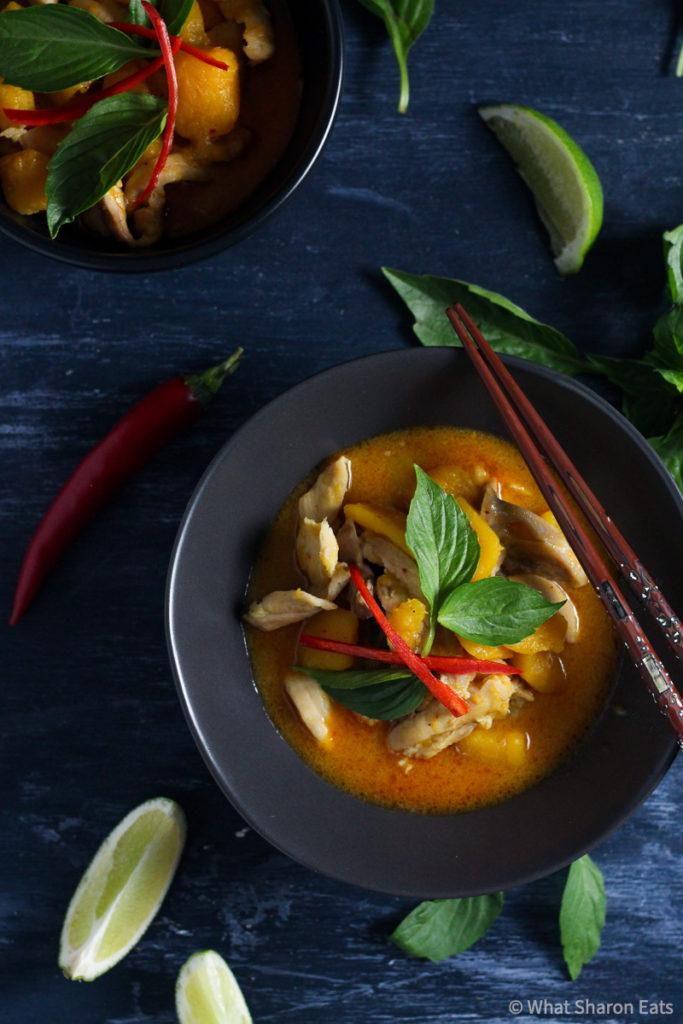 Thai Butternut Squash Curry Final Dish