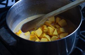 Process image - adding butternut squash